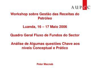 Workshop sobre Gest�o das Receitas do Petr�leo Luanda, 16 � 17 Maio 2006