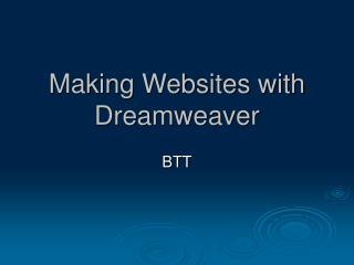 Making Websites with Dreamweaver