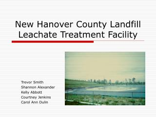 New Hanover County Landfill Leachate Treatment Facility