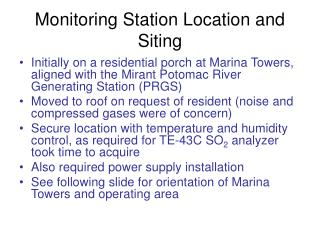 Monitoring Station Location and Siting