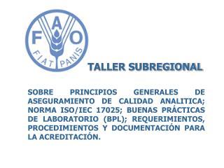 TALLER SUBREGIONAL
