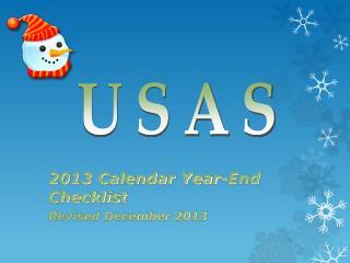2013 Calendar Year-End Checklist Revised December 2013