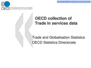 OECD collection of  Trade in services data