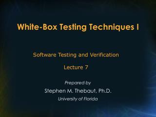 White-Box Testing Techniques I