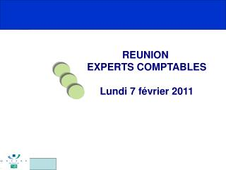 REUNION  EXPERTS COMPTABLES Lundi 7 f�vrier 2011