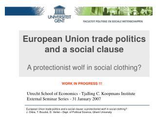 European Union trade politics  and a social clause