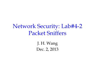 Network Security: Lab#4-2 Packet Sniffers