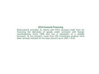ECA Covered Financing