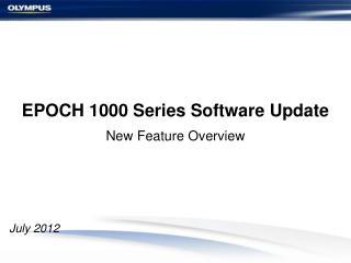 EPOCH 1000 Series Software Update