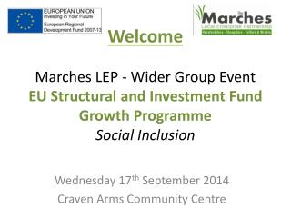 Wednesday 17 th  September 2014 Craven Arms Community Centre
