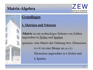 Matrix-Algebra