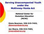 Serving Unaccompanied Youth under the  McKinney-Vento Act