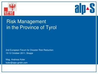 Risk Management  in the Province of Tyrol