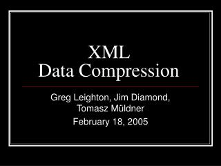 XML  Data Compression