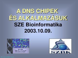 MTA SZBK DNS - Chip Laborat órium szbk.hu/chiplab~