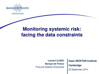 Monitoring systemic risk:  facing the data  constraints
