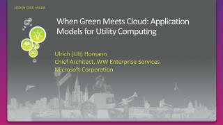 When Green Meets Cloud: Application Models for Utility Computing