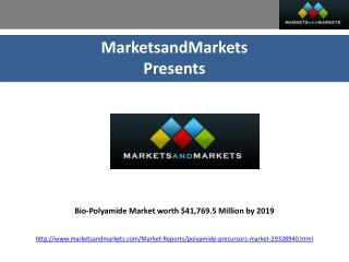 Bio-Polyamide Market would be worth $41,769.5 Million by 201
