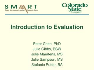 Introduction to Evaluation