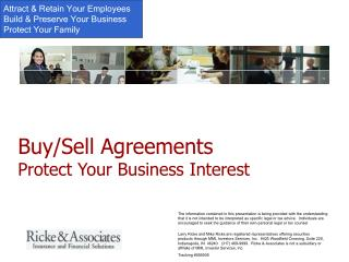 Buy/Sell Agreements  Protect Your Business Interest