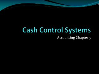Cash Control Systems
