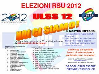 ELEZIONI RSU 2012