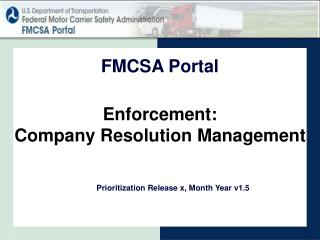Enforcement: Company Resolution Management