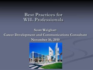 Best Practices for  WIL Professionals