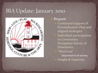 BIA Update: January 2010