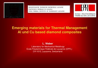 Emerging materials for Thermal Management Al und Cu based diamond composites