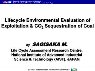 Lifecycle Environmental Evaluation of Exploitation  &  CO 2  Sequestration of Coal