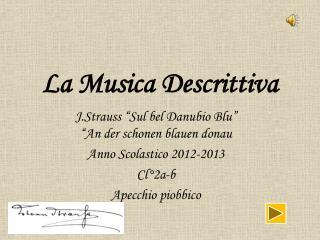 La Musica Descrittiva