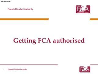 Getting FCA authorised
