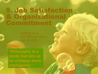 9. Job Satisfaction  Organizational Commitment