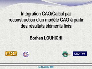 Intégration CAO/Calcul par reconstruction d'un modèle CAO à partir des résultats éléments finis