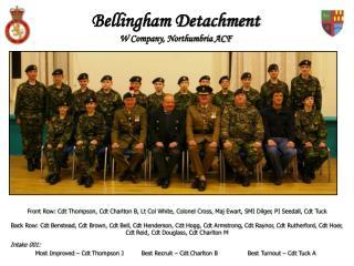 Bellingham Detachment  W Company, Northumbria ACF