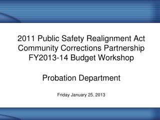 FY 2012-13 Approved Budget: 	$100,000 FY 2013-14 Annualized Cost	:	$120,000