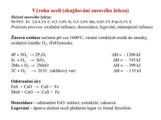 Výroba oceli (zkujňování surového železa)