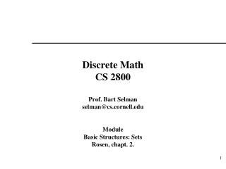 Discrete Math CS 2800