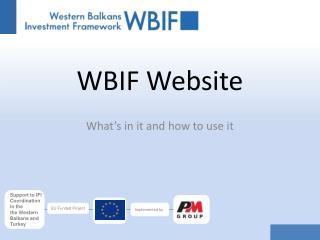 WBIF Website
