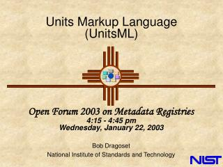 Units Markup Language UnitsML
