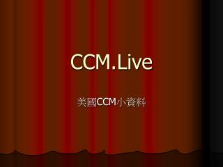 CCM.Live