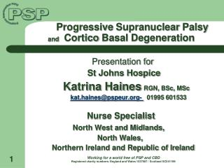 Progressive  Supranuclear  Palsy  and    Cortico  Basal Degeneration