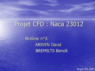 Projet CFD : Naca 23012
