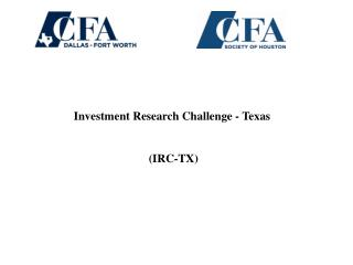 Investment Research Challenge - Texas  (IRC-TX)