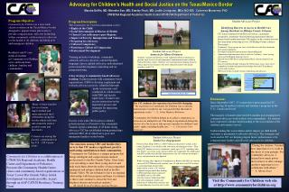 Advocacy for Children's Health and Social Justice on the Texas/Mexico Border