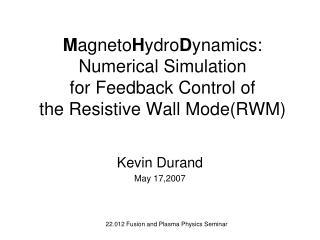 Kevin Durand May 17,2007