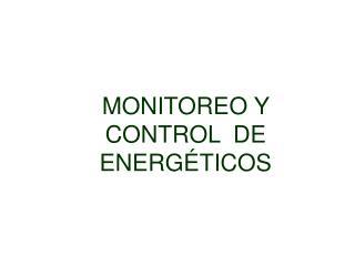 MONITOREO Y CONTROL  DE ENERGÉTICOS