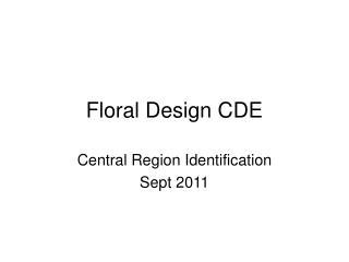 Floral Design CDE