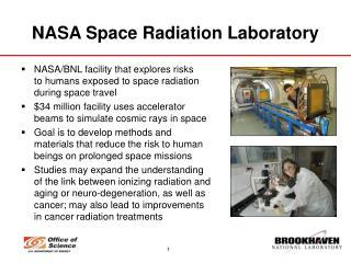 NASA Space Radiation Laboratory